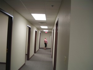 hallway with a line offices