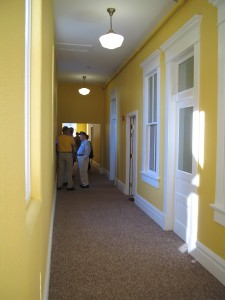 Apartment side hallway