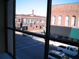 View of Ninth and Main St.
