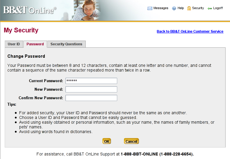 bb and t bank online banking