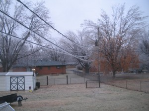 Iced over powerlines