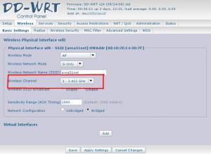 DD-WRT screenshot