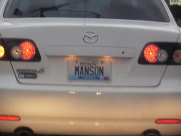 vanity plate manson