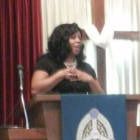Paula Russell speaks at CHUMC