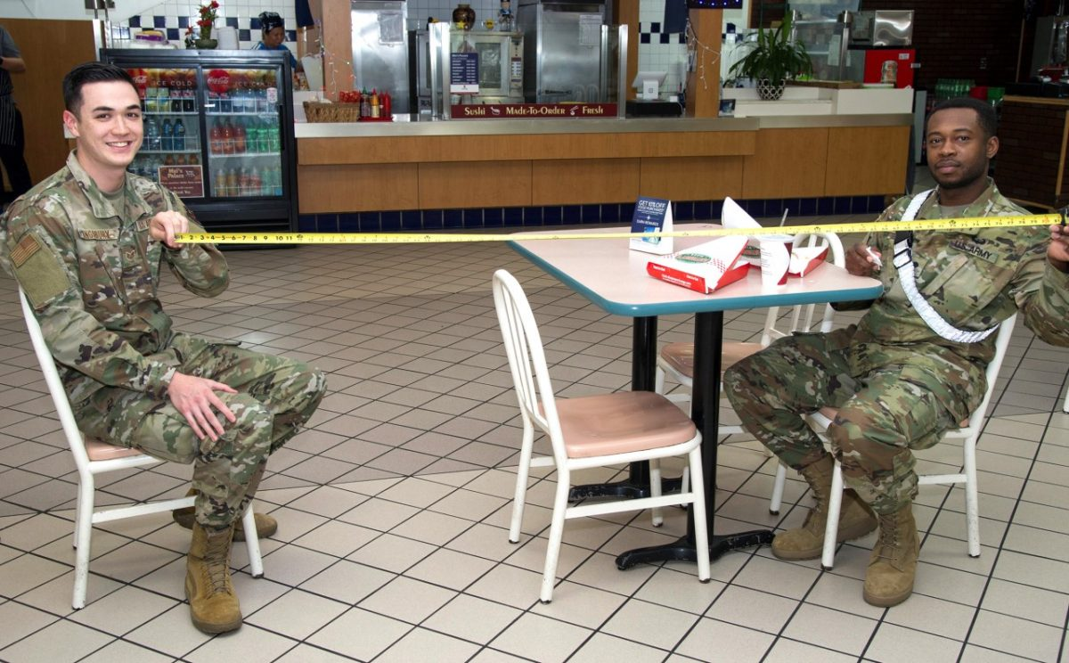 social distancing by the us army